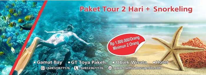 paket tour 2 hari +snorkeling